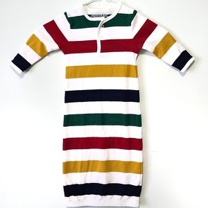 Hudson bay multistripe infant nightgown